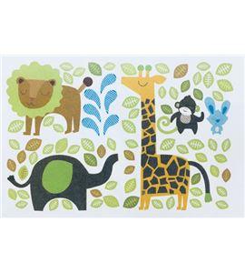 Vinilo de pared - animales de la selva (48x x 32cm) - 22004004