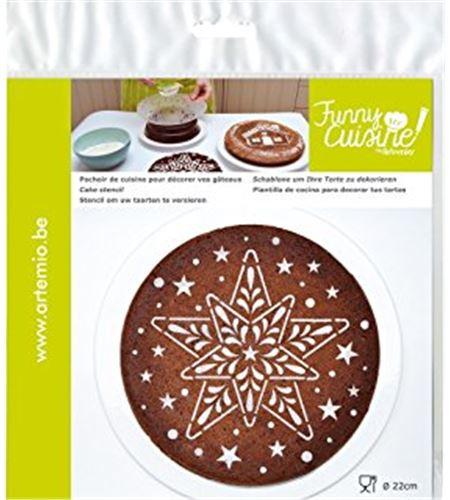 Plantilla para decorar tartas - estrella - 23002016