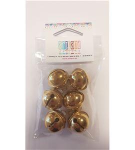 Set de 6 cascabeles dorados - 24mm. - 2504206