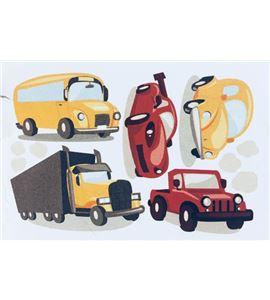 Vinilo de pared - automóviles (48 x 32cm) - 22001005