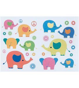 Vinilo de pared - elefantes (48 x 32cm) - 22001008