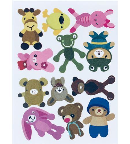 Vinilo de pared - muñecos infantiles (48 x 32cm) - 22002004