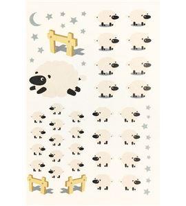 Vinilo de pared - buenas noches ovejitas (48 x 32cm) - 22004006