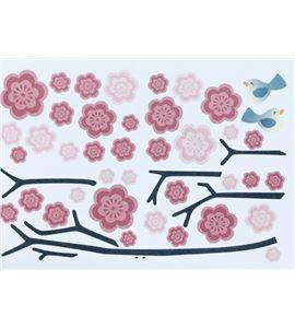 Vinilo de pared - flores sakura (48 x 32cm) - 22004015