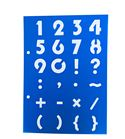 Plantilla / stencil - números y signos
