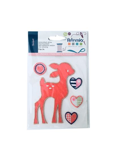 Set de parches bordados adhesivos - bambi - 13063053