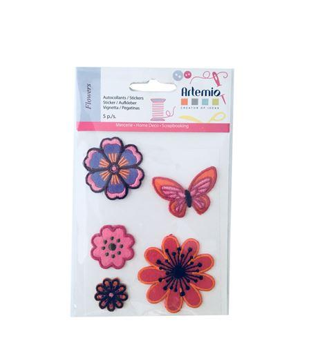 Set de parches bordados adhesivos - flora y fauna - 13063006