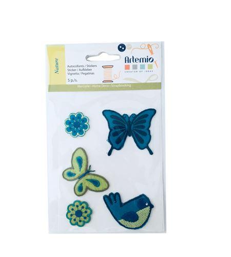Set de parches bordados adhesivos - naturaleza - 13063010