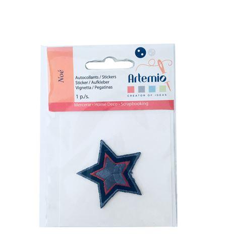 Parche adhesivo bordado - estrella - 13063022