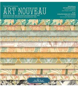 Bloc de papel de scrapbook - art nouveau - RB001 AN16