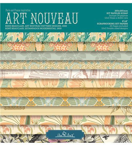 Bloc de papel de scrapbook - art nouveau - RB001 AN16