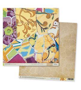 Papel de scrapbook - gaudí marrón - TT006 AG14