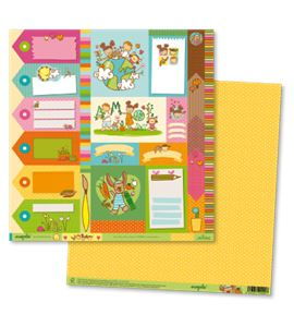 Papel de scrapbook - ecopals tags - ECOT001