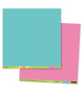 Papel de scrapbook - ecopals blue&pink - ECOT002