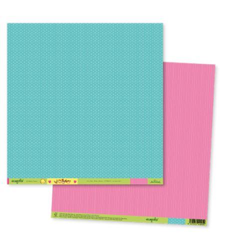 Papel de scrapbook - ecopals blue&pink - ECOT002