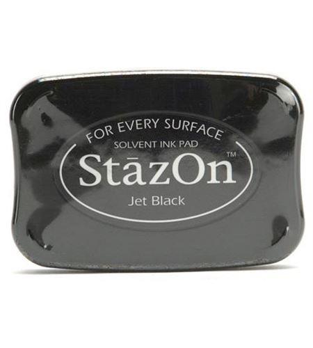 Tampón de tinta stazon - jet black - 28383576