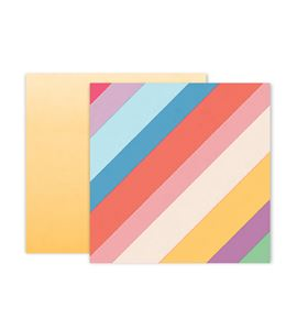 Hoja de papel de scrapbook - striped - 310699