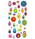 Autoadhesivos 3d matrioshka multicolor