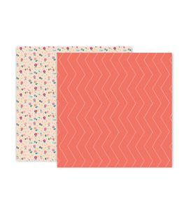 Hoja de papel de scrapbook - zigzag - 310711
