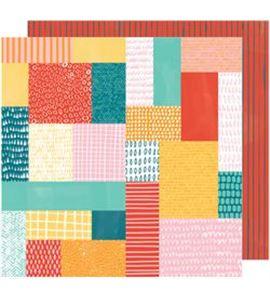 Hoja de papel de scrapbook - patchwork show - 341877