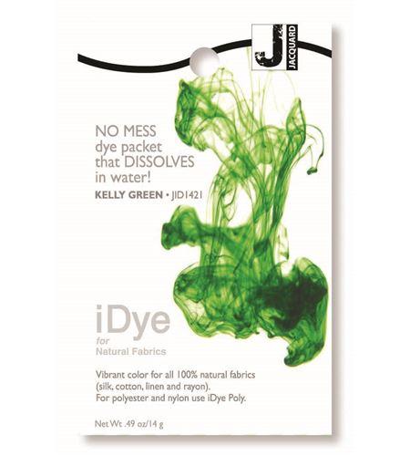 Tinte idye para fibras naturales - kelly green (verde césped) - JID1421 KELLY GREEN