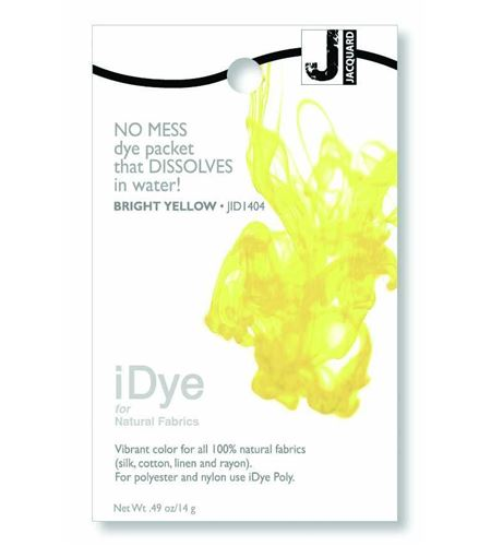 Tinte idye para fibras naturales - bright yellow (amarillo brillante) - JID1404 BRIGHT YELLLOW