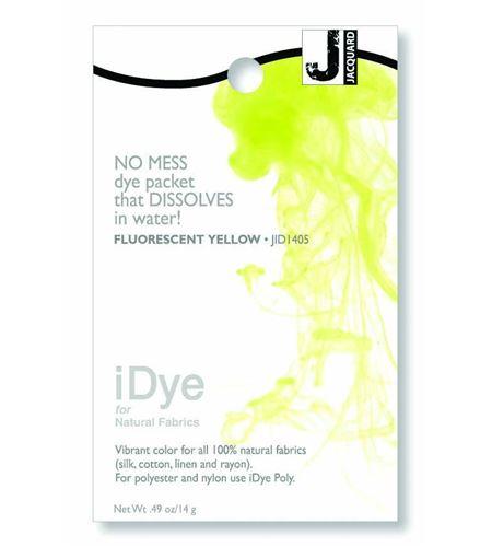 Tinte idye para fibras naturales - fluor yellow (amarillo fluor) - JID1405 FLUORESCENT YELLLOW