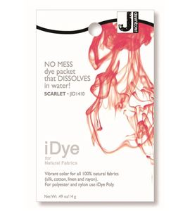 Tinte idye para fibras naturales - scarlet (rojo escarlata) - JID1410 SCARLET