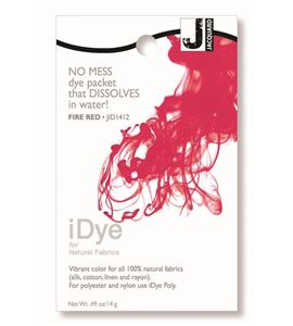 Tinte idye para fibras naturales - fire red (rojo fuego) - JID1412 FIRE RED