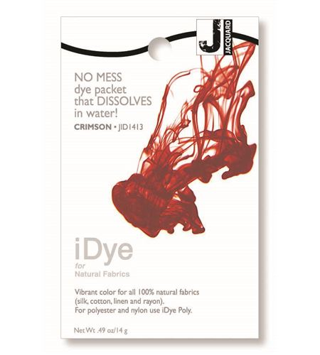 Tinte idye para fibras naturales - crimson (rojo oscuro) - JID1413 CRIMSON