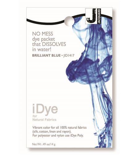 Tinte idye para fibras naturales - brilliant blue (azul brillante) - JID1417 BRILLIANT BLUE