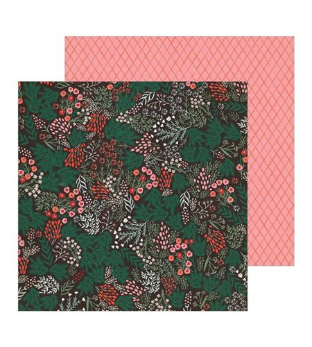 Hoja de papel de scrapbook - sugar plums - 344495