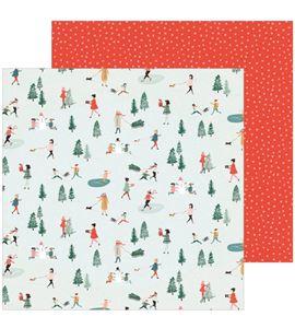 Hoja de papel de scrapbook - frosty day - 344496