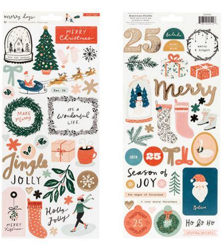 Set de adhesivos navidad merry days - 344510