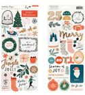 Set de adhesivos navidad merry days