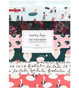 Set de papeles de regalo de navidad merry days - 344520