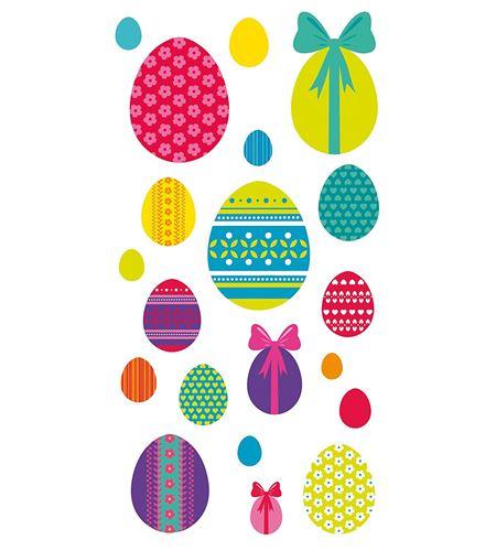 Autoadhesivos 3d huevos pascua multicolor - 11004143