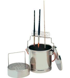 Lava pinceles de acero inoxidable con tapa hermética. - 631035