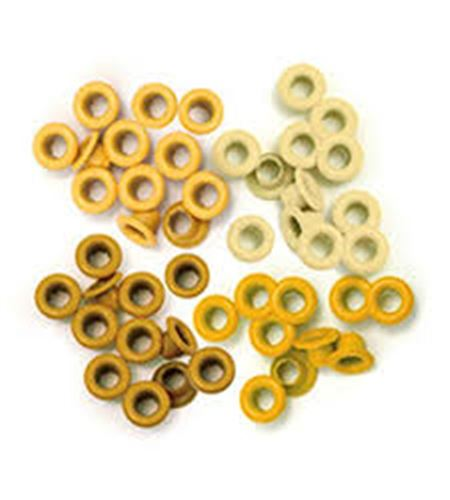 Set de eyelets - 4 tonos amarillo 60pc. - 41575-6