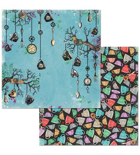 Hoja de papel de scrapbook - land of wonder - 7310333