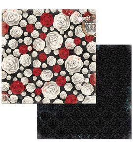 Hoja de papel de scrapbook - flowers - 7310337