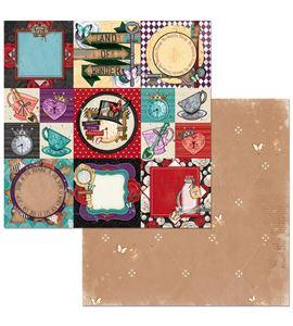 Hoja de papel de scrapbook - hearts - 7310338
