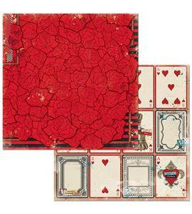 Hoja de papel de scrapbook - roses - 7310342