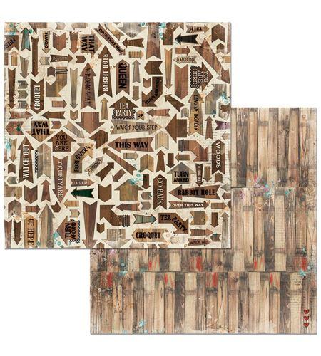 Hoja de papel de scrapbook - woods - 7310344