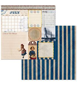 Hoja de papel de scrapbook - july - 7310393
