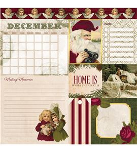 Hoja de papel de scrapbook - december - 7310398