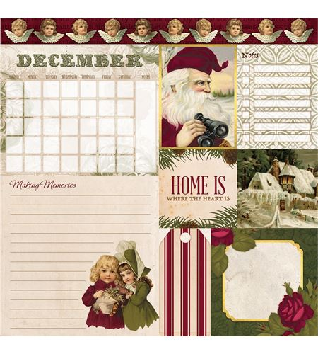 Hoja de papel de scrapbook - december - 7310398