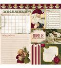 Hoja de papel de scrapbook - december