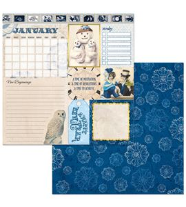 Hoja de papel de scrapbook - january - 7310387