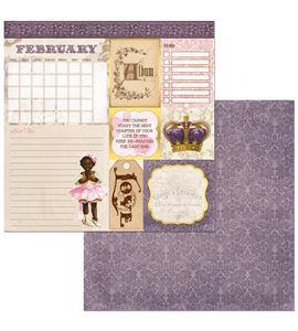 Hoja de papel de scrapbook - february - 7310388